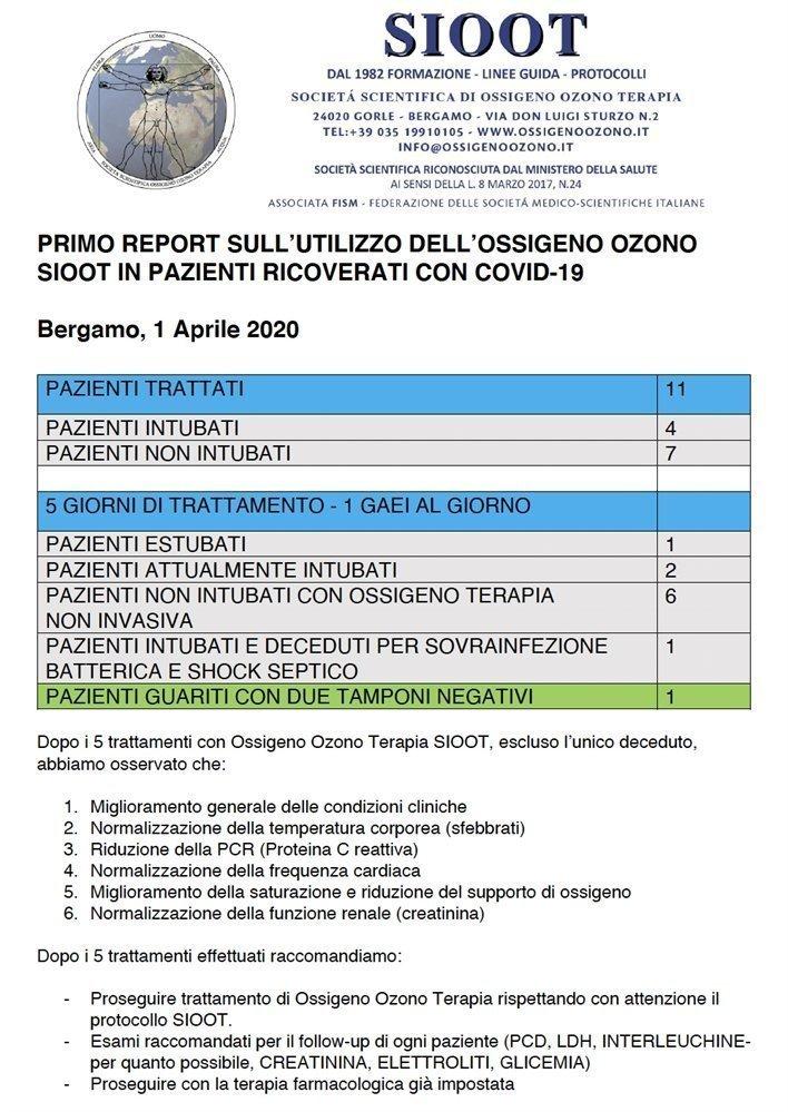 report sioot ozonoterapia corona