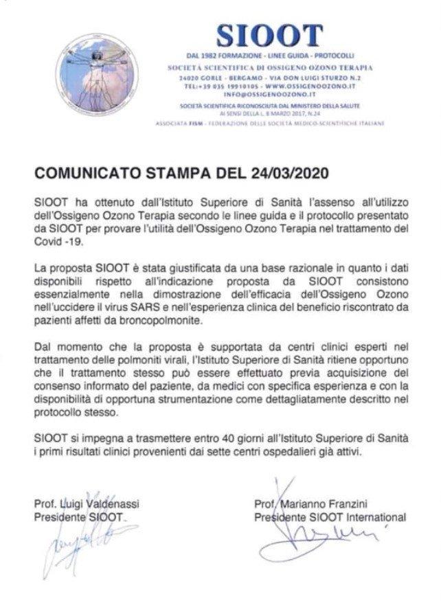 sioot ozonoterapia corona